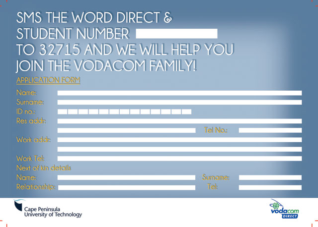 ... Cput Vodacom special deal Cput Vodacom special deal - application form